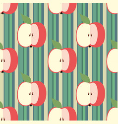 Decorative seamless background with stripes and vector