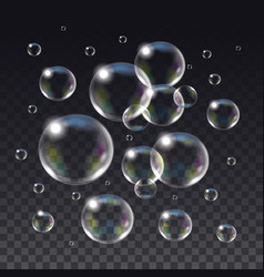 Realistic isolated soap bubbles vector