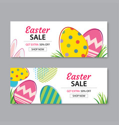 Easter sale banner template background vector