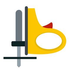 Yellow cordless reciprocating saw icon isolated vector