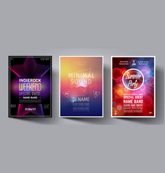 dance club night summer party flyer vector image
