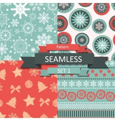 Abstract Beauty Christmas and New Year Seamlss vector image