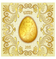 Happy easter jewelry egg vector