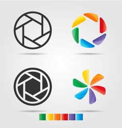 4 logo template set vector