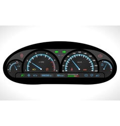 Car dashboard isolated vector