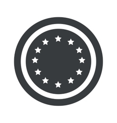 Round black european union sign vector