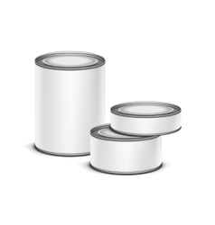 White tin box for tea coffee or canned preserves vector