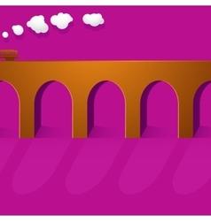 Stone bridge viaduct vector image