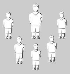 Team players silhouettes vector