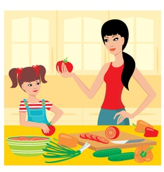 cooking lessons vector image