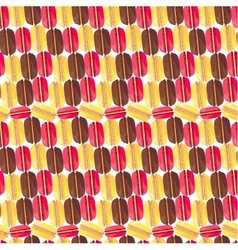Seamless pattern with tasty macaroons vector