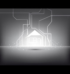 Home illuminated vector