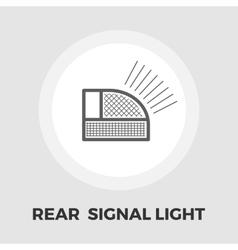 Rear signal light car icon flat vector image