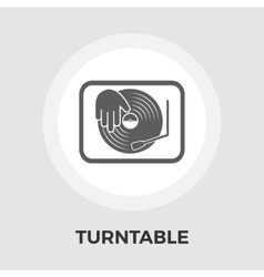 Turntable flat icon vector image