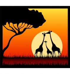 Wildlife silhouette vector