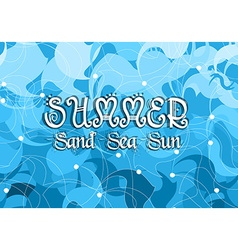 Abstract Summer Happiness Blue Background vector image vector image