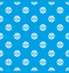 Best choise label pattern seamless blue vector