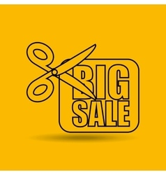 Big sale offer discount commerce vector