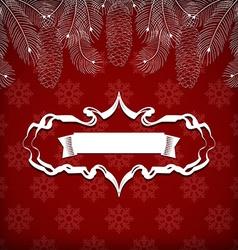 Christmas greeting card vector image vector image