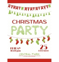 Christmas party invitation poster template vector