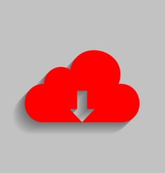 Cloud technology sign red icon with soft vector