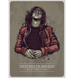 Desperate Smoker vector image vector image