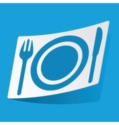 Dishware sticker vector