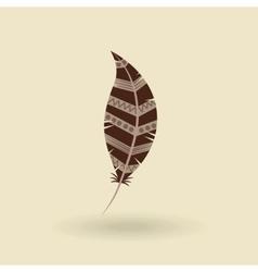 Feather icon design vector