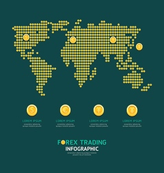 Infographic business currency money coins forex vector