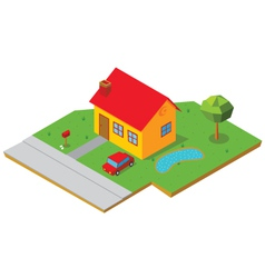 isometric house 1 vector image vector image