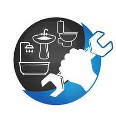 Plumbing services design vector