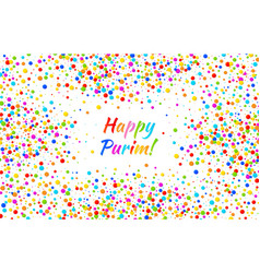 Purim card carnival paper confetti background vector