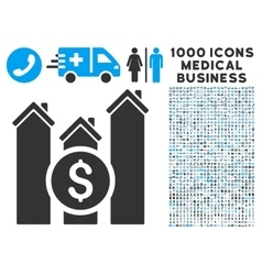 Realty price charts icon with 1000 medical vector