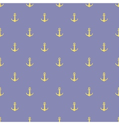Seamless pattern of anchor vector image vector image