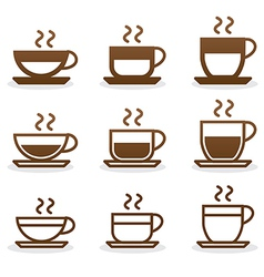 Set coffee cups vector image vector image