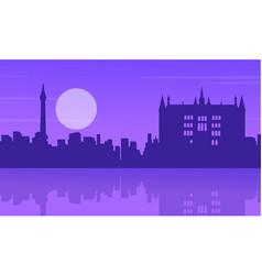 silhouette london city building landscape vector image vector image