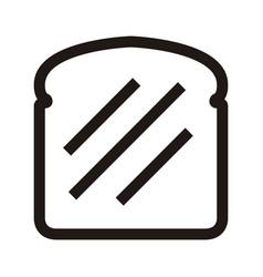 slice of bread icon vector image vector image