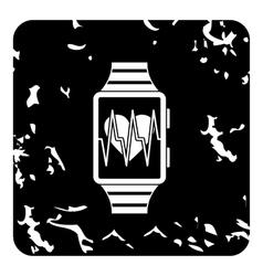 Smartwatch icon grunge style vector