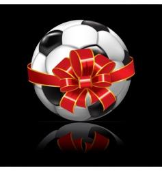 Soccer ball bandaged silk ribbon vector