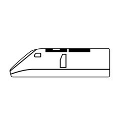 speed train icon vector image vector image