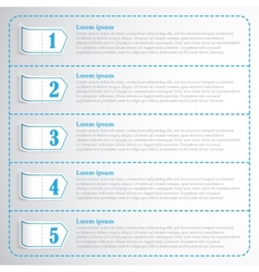 Step numbers options chek list business template vector image