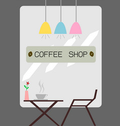 the coffee shop vector image