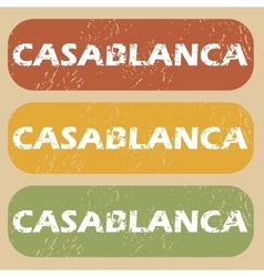Vintage casablanca stamp set vector
