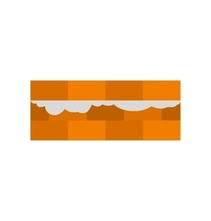 Wall of bricks icon flat style vector image vector image