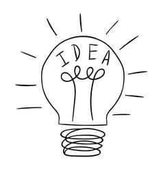Idea lamp icon vector