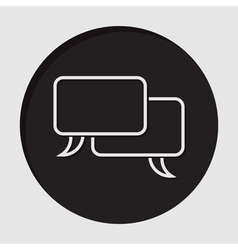 Information icon outline speech bubbles vector