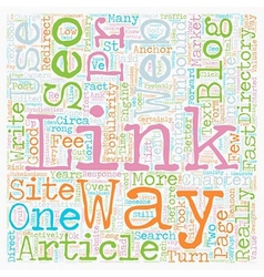 Seo web links directory alternatives text vector