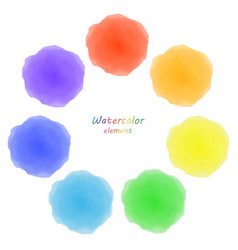 Rainbow watercolor blotch set of rainbow vector