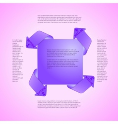 Infographics template four options vector