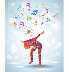 Dancing young girl vector